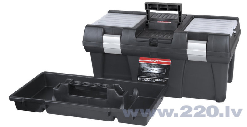Instrumentu kaste STUFF Semi Profi Alu 20 cena un informācija | Instrumentu kastes | 220.lv