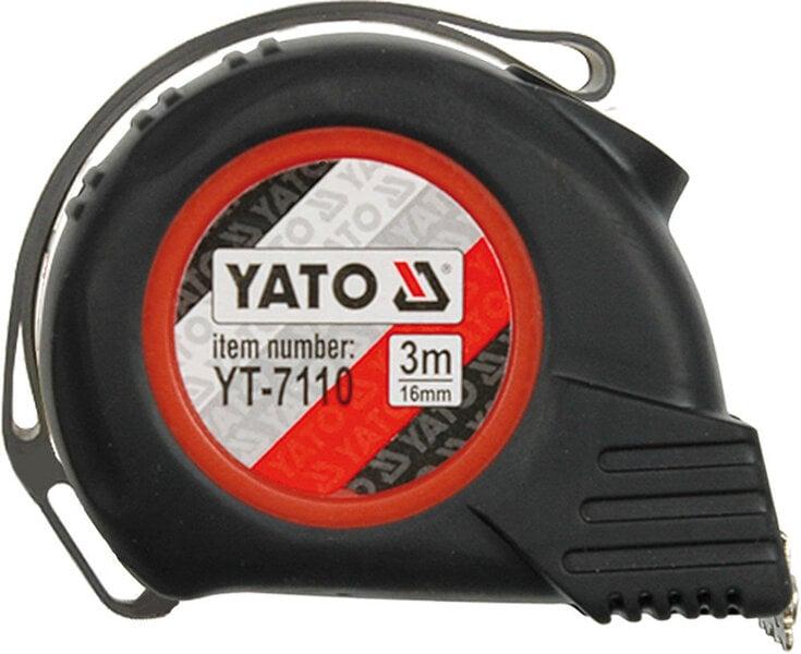 Mērlente Magnetic-Nylon-Automatic Yato 3m cena un informācija | Instrumenti | 220.lv