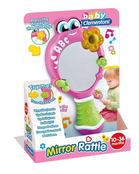Bērnu spogulis ar gaismām un skaņām Clementoni cena un informācija | Rotaļlietas zīdaiņiem | 220.lv