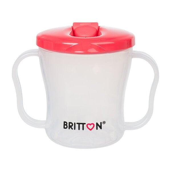 Pirma bērnu pudele BRITTON, 200 ml, sarkana cena un informācija | Bērna barošana | 220.lv
