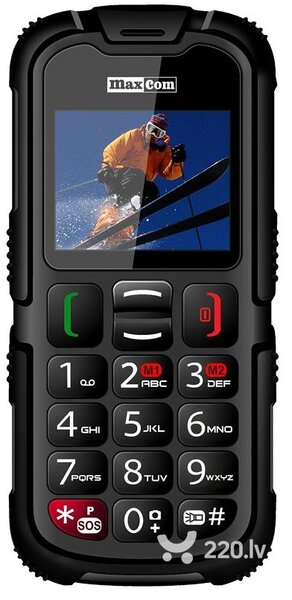 Maxcom MM910 Dual Black ENG цена и информация | Mobilie telefoni | 220.lv