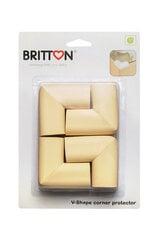 V-formas mīksti stūru aizsargi BRITTON, 4 gab. cena un informācija | Bērnu drošības preces | 220.lv