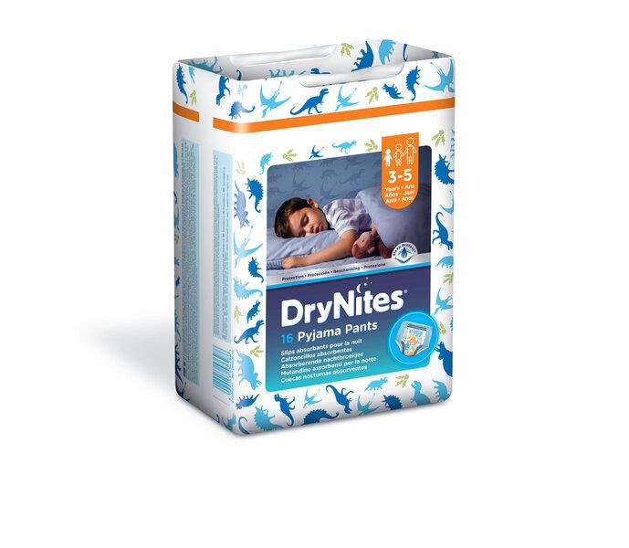 Autiņbiksītes Huggies DryNites zēniem 3-5 gadi, 16 gab. cena un informācija | Autiņbiksītes un aksesuāri | 220.lv