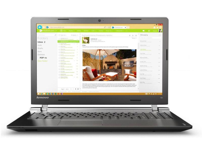 Lenovo IdeaPad 100 (80QQ00P2PB) цена и информация | Portatīvie datori | 220.lv