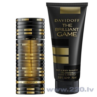 Комплект Davidoff The Brilliant Game: edt 60 мл + гель для душа 75 мл цена и информация | Vīriešu smaržas | 220.lv