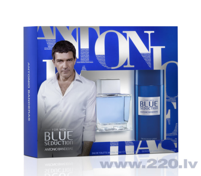 Комплект Antonio Banderas Blue Seduction: edt 100 мл + дезодорант 150 мл цена и информация | Vīriešu smaržas | 220.lv