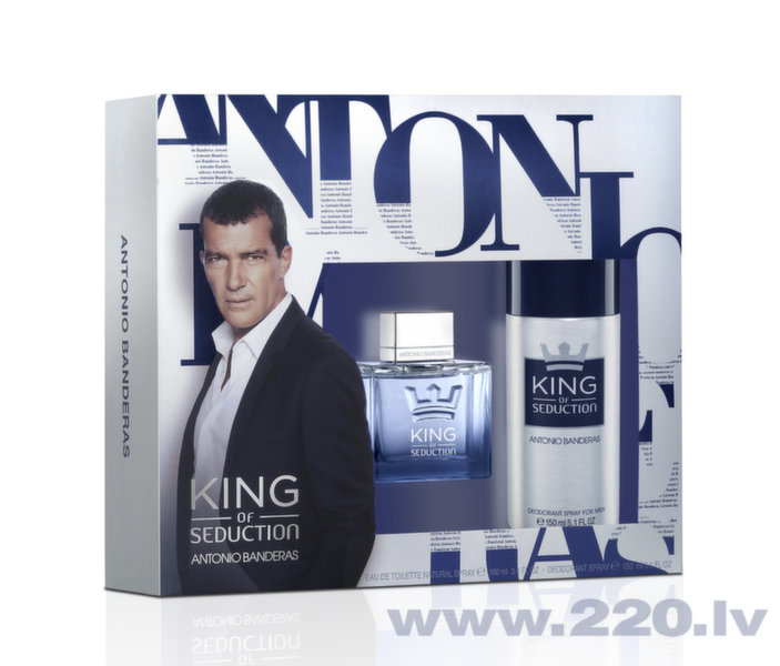 Комплект Antonio Banderas King Of Seduction: edt 100 мл + дезодорант 150 мл цена и информация | Vīriešu smaržas | 220.lv