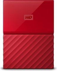 """WD My Passport 2.5"""" 4 TB, USB 3.0, Sarkans"""