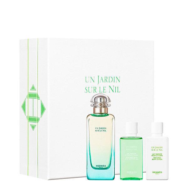 Komplekts Hermes Un Jardin Sur Le Nil: edt 100 ml + ķermeņa losjons 40 ml + dušas želeja 40 ml cena un informācija | Sieviešu smaržas | 220.lv