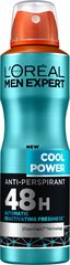 Dezodorants L'Oreal Paris Men Expert Cool Power 150 ml cena un informācija | Dezodoranti | 220.lv