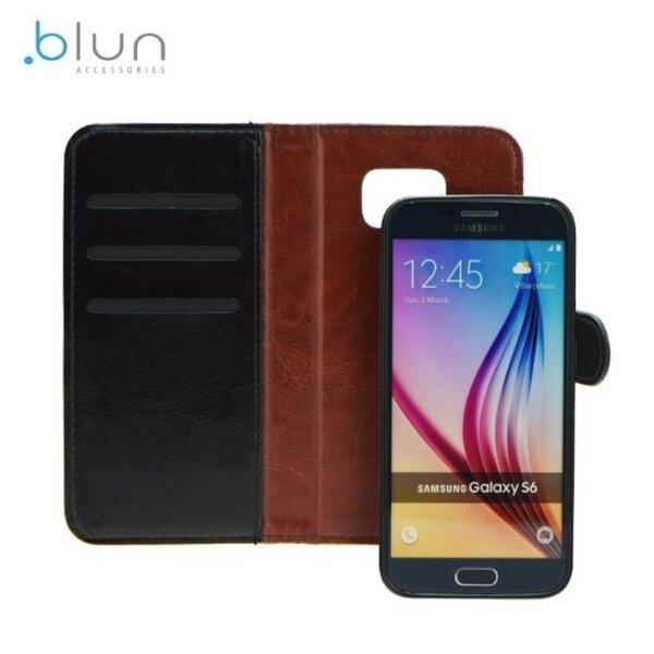 Blun Twin 2in1 Eko ādas sāniski atverams maks ar magnētisku maku-apvalku priekš Samsung J320F Galaxy J3 Melns cena un informācija | Maciņi, somiņas | 220.lv