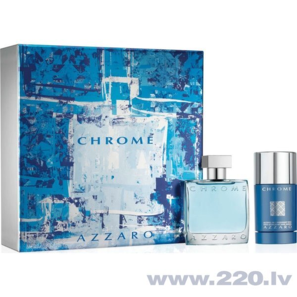 Komplekts Azzaro Chrome: edt 50 ml + dezodorants 75 ml