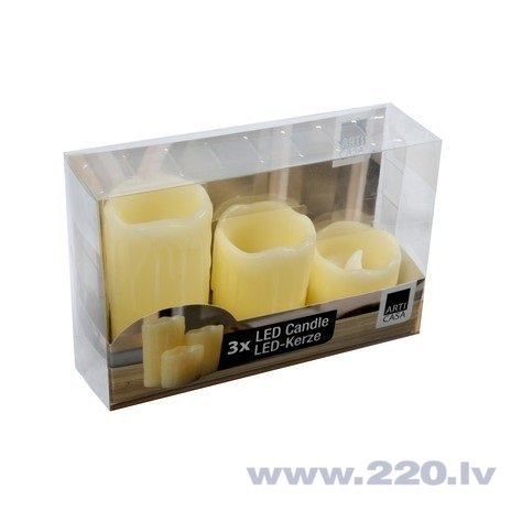 Набор LED cвечей, 3 шт. цена и информация | Mājai | 220.lv