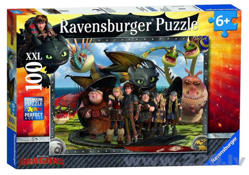 Пазл Ravensburger How to train your dragon 100 деталей, 105496