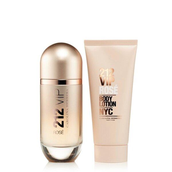 Komplekts Carolina Herrera 212 VIP Rose: edp 50 ml + ķermeņa losjons 75 ml cena un informācija | Sieviešu smaržas | 220.lv