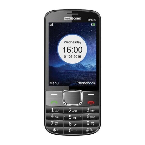 MAXCOM MM320 BLACK (Черный) цена и информация | Mobilie telefoni | 220.lv