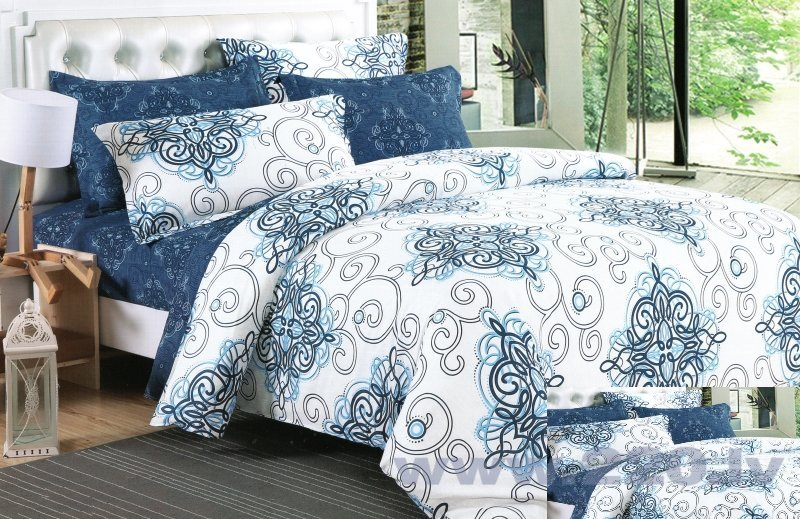 Комплект постельного белья, 4 части (160x200 см) цена и информация | Gultas veļas komplekti | 220.lv
