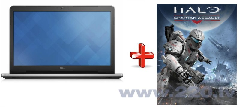 Dell Inspiron 17 I17-5755A Silver Win8.1 + HALO: Spartan assault (Windows 8.1) цена и информация | Portatīvie datori | 220.lv