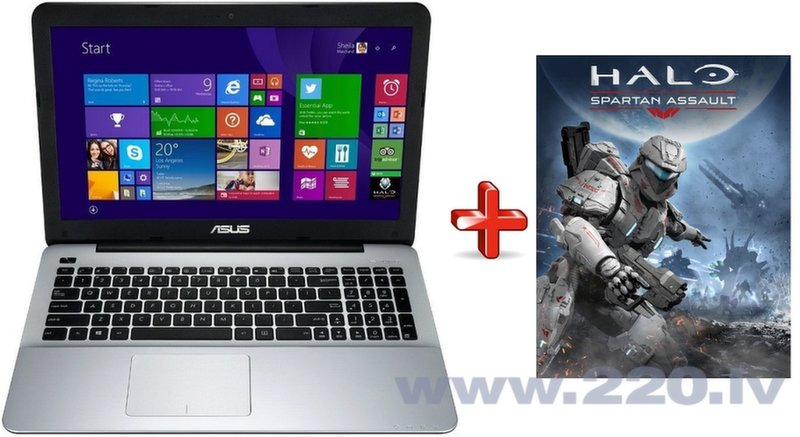 Asus X555UB-XO109D RUS + HALO: Spartan assault (Windows 8.1) цена и информация | Portatīvie datori | 220.lv