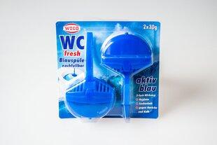 Weco WC - fresh blue мыло с пластмассовым держателем (многоразового использования) 2*30g