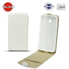 Vertikāli atverams telefona maciņš Telone Shine Pocket Slim Flip Case priekš Huawei P8 Lite Smart Balts