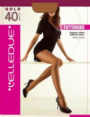 Sieviešu zeķubikses Elledue Gold 40 DEN, brūnas