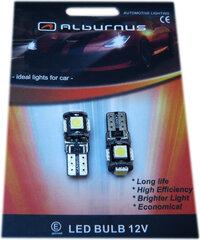 Spuldze Alburnus W5W/T10, 5LED SMD Canbus cena un informācija | Autospuldzes | 220.lv