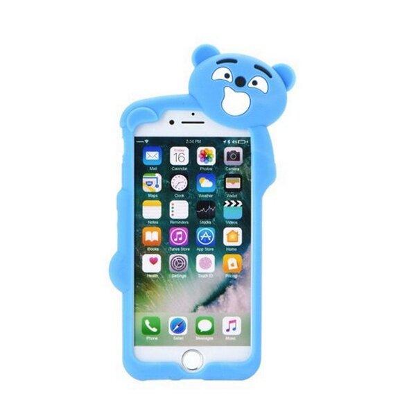 Forcell Back Case Silicone 3D Чехол для мобильного телефона Samsung A320F Galaxy A3 (2017) синий медведь