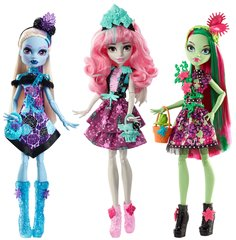 Кукла Monster High Flower Party: Ebe, Rochelle, Venus, FDF11, 1 шт.