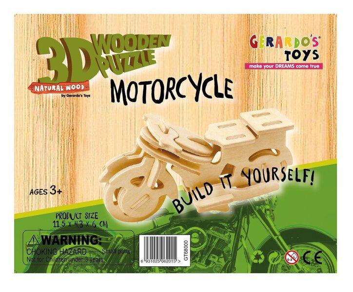 """3D деревянный пазл """"Мотоцикл"""" 25 эл., 41532"""
