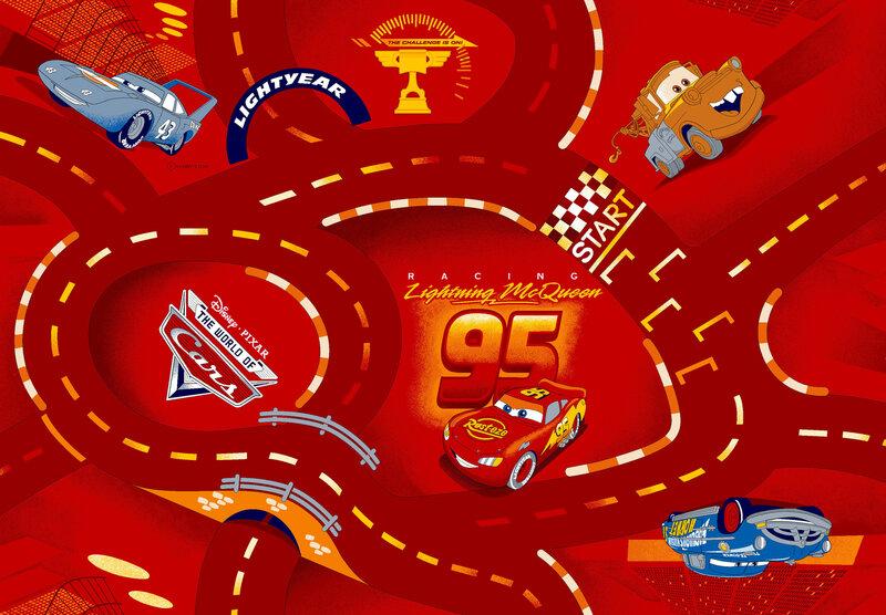 Bērnu paklājs AW World of Cars
