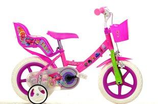 "Meiteņu divritenis Dino Bikes Trolls 12"", 124RL-TRO cena un informācija | Velosipēdi | 220.lv"