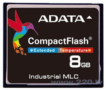 A-Data 8GB Industrial CF IPC39 MLC (-40 to +85C)