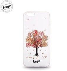 Aizmugurējais apvalks Beeyo Blossom priekš LG K10 K420N / K430 Balts/Sarkans cena un informācija | Aizmugurējais apvalks Beeyo Blossom priekš LG K10 K420N / K430 Balts/Sarkans | 220.lv