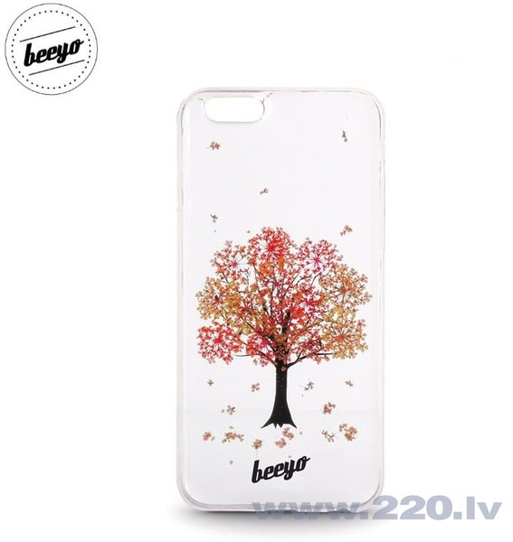 Чехол-крышка Beeyo Blossom для LG K8 K350N / Phoenix 2 Белый/Красный