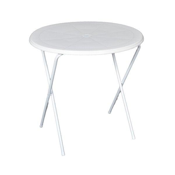 Saliekams tūristu galds Topaz, balta