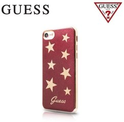 "Aizmugurējais apvalks GUESS Stars Design priekš Apple iPhone (4.7"") Sarkans/Zeltains"