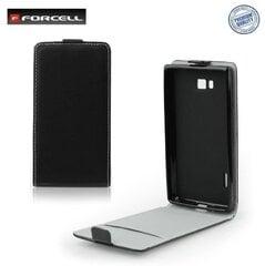 Vertikāli atverams telefona maciņš Forcell Flexi Slim Flip priekš Samsung Galaxy S8 Plus (G955) Melns cena un informācija | Maciņi, somiņas | 220.lv