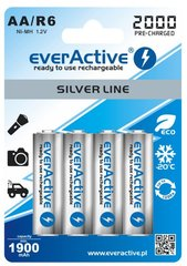 everActive Silver Line Ready to Use 2000mAh AA, 4 gab. cena un informācija | everActive Silver Line Ready to Use 2000mAh AA, 4 gab. | 220.lv