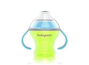 Детская бутылочка BabyOno Natural Nursing, 180 мл, 1456, зеленый