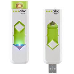 Электрическая зажигалка (заряжаемая) ABC TECH 129778, Белая