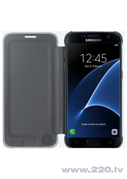 Чехол-книжка Clear View для Samsung Galaxy S7 Edge (G935), Черный