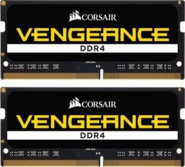 Corsair Vengeance 16GB 2666MHz DDR4 CL18 SODIMM KIT OF 2 CMSX16GX4M2A2666C18 cena un informācija | Corsair Vengeance 16GB 2666MHz DDR4 CL18 SODIMM KIT OF 2 CMSX16GX4M2A2666C18 | 220.lv