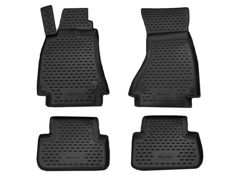 Резиновые коврики 3D AUDI A4 B8 2007-2015, 4 шт. /L03004