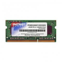 (RAM) PATRIOT DDR3-1333 4 GB NON-ECC CL9 SODIMM Unbuffered