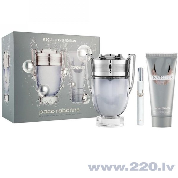 Komplekts Paco Rabanne Invictus: edt 100 ml + dušas želeja 100 ml + mini