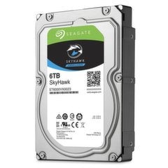 Seagate SkyHawk 6TB 7200RPM SATAIII 256MB ST6000VX0023 цена и информация | Жёсткие диски (HDD, SSD, Hybrid) | 220.lv