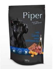 Mīksta barība suņiem Piper ar jēra gaļu, burkāniem un brūniem rīsiem 150 g