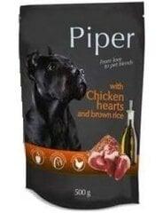 Mīksta barība suņiem Piper ar vistu sirdīm un brūniem rīsiem, 500 g cena un informācija | Konservi suņiem | 220.lv