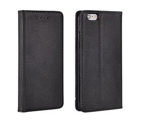 Sāniski atverams maciņš Mocco Smart Magnet Book priekš Huawei P9 Lite, melna